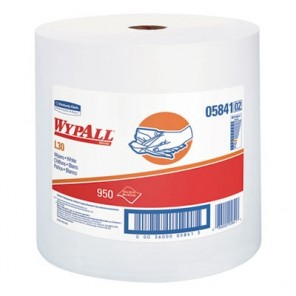 WypAll* 05841 Exceptional Performance General Purpose Wiper, 12.4 in W, 950 Sheets, DRC, White