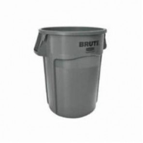 Rubbermaid® BRUTE® Stackable Utility Container, 44 gal, 24 in Dia, 24 in L x 24 in W x 31-1/2 in H, Polyethylene, Gray