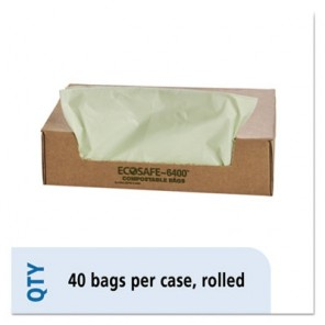Stout E4248E85 EcoSafe Compostable Compost Bags, .85 mil, 42 x 48, 48 gal, Green, 40/Box