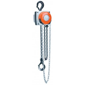 CM HURRICANE HAND CHAIN HOIST, CM Hurricane w/Hand & Load Chain, Cap. (Tons): 1, Lift Height: 20'
