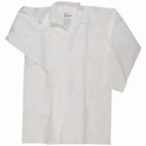 KleenGuard; 40049 Light Weight Particle Protection Lab Coat, 2XL, White, Unisex, SMS Fabric