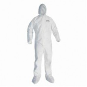 KleenGuard; 49124 Breathable Light Weight Disposable Coverall, XL, 29-3/4 in Chest, 32 in Inseam, White, SMS Fabric