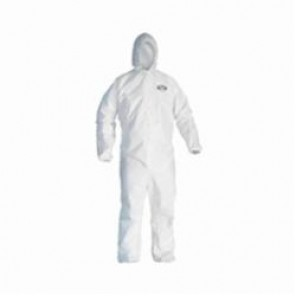 KleenGuard; 49116 Breathable Light Weight Disposable Coverall, 3XL, 31-3/4 in Chest, 42 in Inseam, White, SMS Fabric