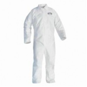 KleenGuard; 44316 Breathable Disposable Coverall, 3XL, 29-1/2 in Chest, 40-1/2 in Inseam, White