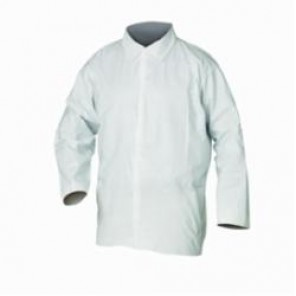 KleenGuard; A20 Breathable Light Weight Disposable Shirt, L, White, Microforce Barrier SMS Fabric
