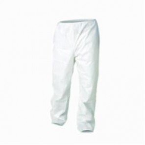 KleenGuard; 36225 Breathable Disposable Pant, 2XL, White, Microforce™ SMS Fabric