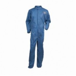 KleenGuard; 58502 Breathable Light Weight Disposable Coverall, M, 27 in Chest, 40 in Inseam, Blue, SMS Fabric
