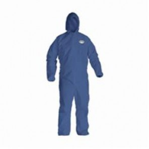 KleenGuard; 58515 Breathable Light Weight Disposable Coverall, 2XL, 30 in Chest, 41 in Inseam, Blue, SMS Fabric