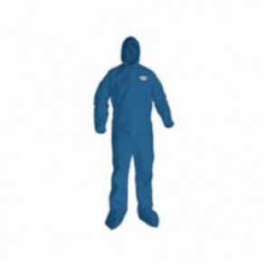 KleenGuard; 58526 Breathable Light Weight Disposable Coverall, 3XL, 31-3/4 in Chest, 33-3/4 in Inseam, Blue, SMS Fabric