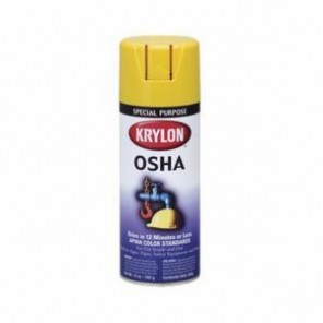 Krylon® K01813 OSHA Paint, 16 oz, Liquid, Safety Yellow, 15 to 20 sq-ft