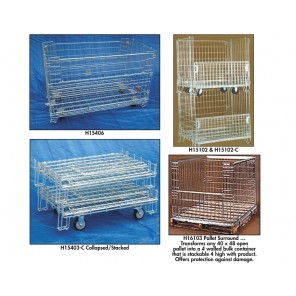 SHELVES FOR WIRE CONTAINERS, 4 Spring-Loaded Shelves, Fits Wire Container Product No.: H15102, Cap. (lbs.): 175