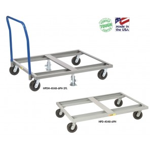 PALLET DOLLY, Without Floor Locks, Size W x L x H: 40 x 48 x 9""