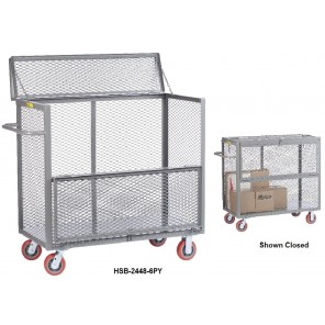 "ALL-WELDED MOBILE SECURITY BOX TRUCKS, Inside Dim. W x D x H: 48 x 30 x 36"", Cap. (lbs.): 3600"
