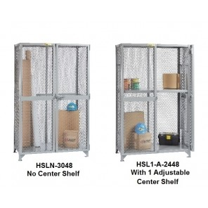 ALL-WELDED STORAGE LOCKERS, Shelf Type: 1 Adjustable Center Shelf, Inside Dim. W x D x H: 60 x 30 x 72""