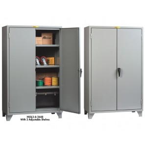 12 GA. STORAGE CABINET, 2 Shelf Unit, Size D x W x H: 30 x 60 x 78""