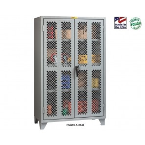 """Clear View Storage Cabinets, No. of Shelves: 2, Size D x W x H: 24 x 48 x 78"""""""