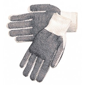 Men's Knit Double Dot Gloves - Reconditioned/Washed (Per Pair)