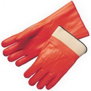 Liberty Glove 2524 Chemical Resistant Gloves, Men's, Fluorescent Orange, PVC