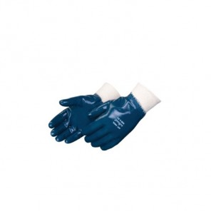 Liberty Glove 9363SP Blue Nitrile Palm Coated-Chemical resistant