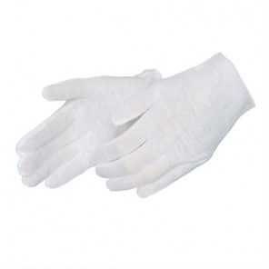 Men's Medium Weight Hemmed Cotton Inspection Gloves