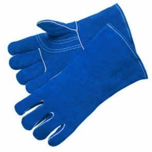 Blue Welders Glove-Ladies Select shoulder leather reinforced thumb and palm
