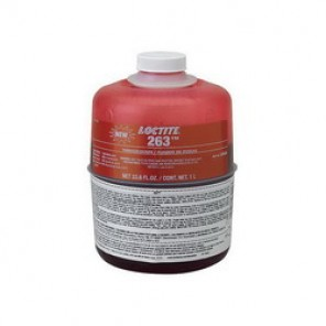 Loctite® 1330334 High Strength Low Viscosity Oil Tolerant Thread Sealant, 1 l Bottle, Liquid, Red, 1.08
