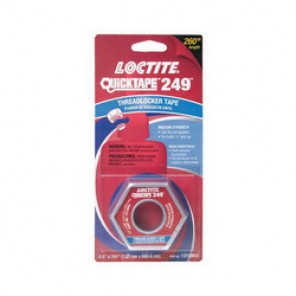 Loctite® 1372603 Medium Strength Threadlocker Tape, 1/2 in W x 260 in L, Acrylic Adhesive