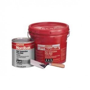 Loctite® Nordbak® 96332 2-Part Ultra High Temperature Pneu-Wear, 25 lb, Paste, Part A: Dark Gray, Part B: Dark Amber