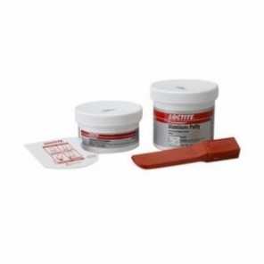Loctite® Fixmaster® 97463 2-Part Aluminum Putty, 1 lb Kit, Paste, Part A: Silver, Part B: Grey