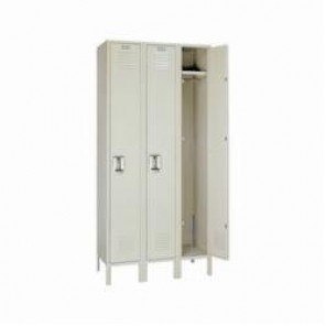 LYON® 5012-3 Wardrobe Locker, 60 in H x 12 in W x 15 in D, 1 Tiers, 3 Compartments