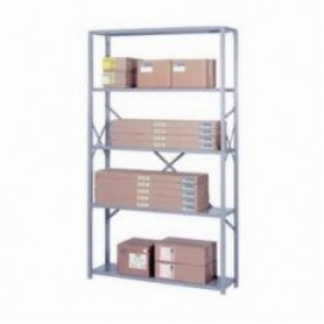 LYON® 8048SH Heavy Duty Starter Open Shelving Section, 5 Shelves, 84 in H x 42 in W x 24 in D, 720 lb Shelf
