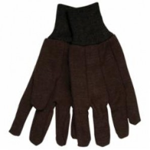 Memphis 7100 Jersey Gloves, L, Brown, Clute Pattern, Standard Finger, Straight Thumb, 8 oz Jersey