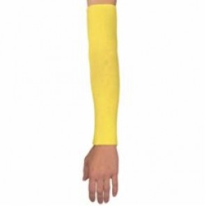 Memphis 9378E Cut-Resistant Sleeves, 18 in L, Yellow, Kevlar®/Polyester/Cotton