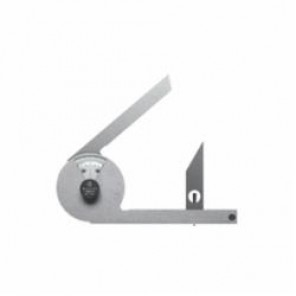 Mitutoyo 187 Metric Bevel Protractor With 30 deg and 60 deg Edge Blades, 360 deg, 137 mm Blade, Graduations 1 deg 5 min