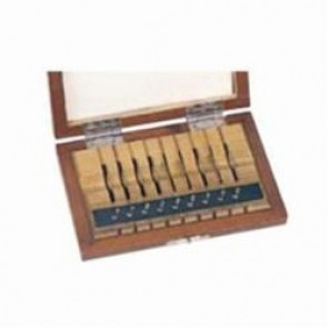 Mitutoyo 516 Metric Thin Gauge Block Set, Rectangle, Steel