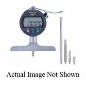 Mitutoyo ABSOLUTE® 547 Inch/Metric Digimatic Depth Gauge, 0 to 8 in/0 to 200 mm, Graduation 0.005 in/0.01 mm, LCD