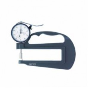 Mitutoyo Series 7 Imperial Flat Anvil Dial Thickness Gage, 0 to 1 in, Graduation 0.001 in, Ceramic Spindle/Anvil