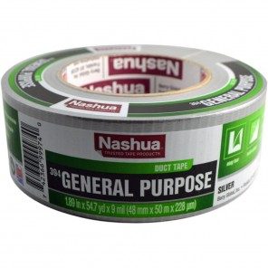 Nashua® 394 Silver Duct Tape, 2 in x 60 yds, 9 mil