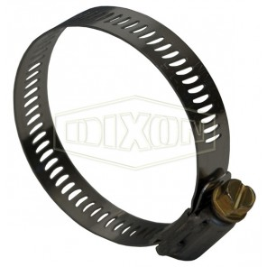 Dixon® HS48 HS Series Worm Gear Clamp, 2-9/16 to 3-1/2 in Clamp, Stainless Steel Band, Domestic HS48-238