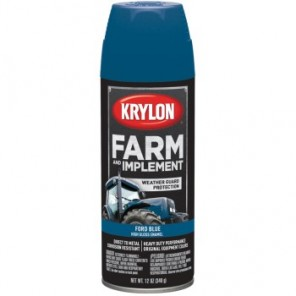 Farm and Implement Spray Paint in High Gloss Ford Blue for Metal, Wood, 12 oz.
