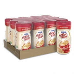 Coffee-Mate Non-Dairy Powdered Creamer, Original, 11 oz Canister, 12/Carton