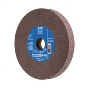 PFERD Universal Line PS-FORTE Flat Type 1 Bench and Pedestal Grinding Wheel, 6 in Dia x 3/4 in THK, 1 in, 24 Grit