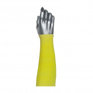 PIP® Kut-Gard® 10-KS18 2-Ply Cut-Resistant Sleeves, 18 in L, Rib Knit Wrist Cuff, Yellow, 100% Kevlar®