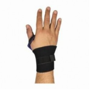 PIP® 290-9015 Ambidextrous Wrist Support With Punched Thumb Loop, Universal, Hook and Loop Closure, Black