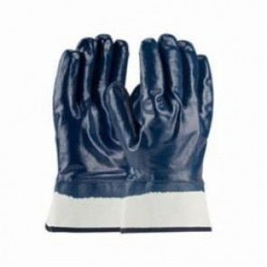 PIP® ArmorTuff® 56-3154/L Dipped Fully Coated Gloves, Nitrile, Blue, Cotton Jersey Lining, 10.2 in L, Large