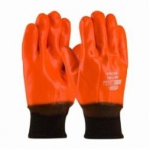 PIP® ProCoat® 58-7303 Dipped High Visibility Insulated Fully Coated Gloves, Men's, PVC Palm, Orange