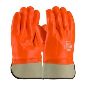 PIP® ProCoat® 58-7305 Dipped Insulated Men's Chemical Resistant Gloves, Universal, Hi-Viz Orange, Foam Lining, 10 in L, Safety Cuff