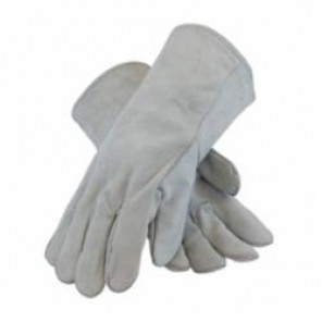 PIP® 73-888A Welding Gloves, L, Gray, Wing Thumb, Split Cowhide Leather