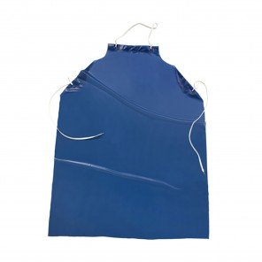West Chester UUB-48 Apron Blue Vinyl 6 Mil with Raw Edge 35 inch x 48 inch