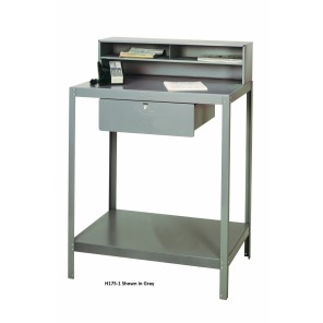 DISPATCH DESKS, Gray, No. of Top Compartments: Double, Lower Tray: 2 Trays, Foot Casters, Drawer Size: 20 x 20 x 6""